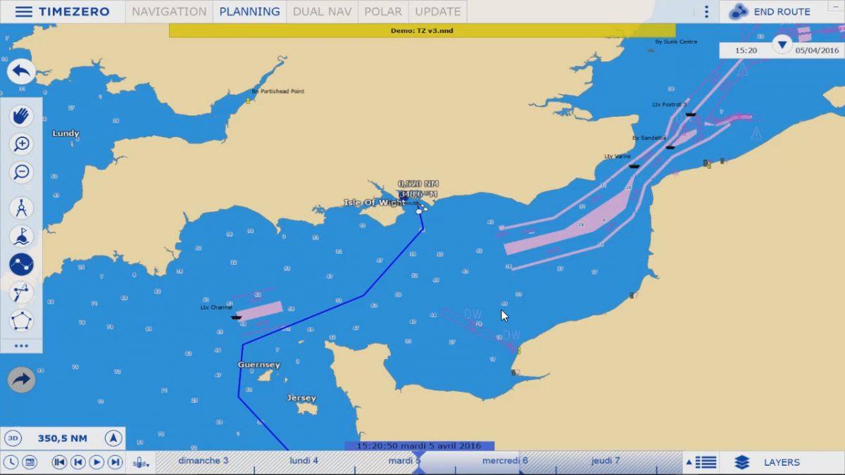 TimeZero TZ Navigator V3 Route Planning