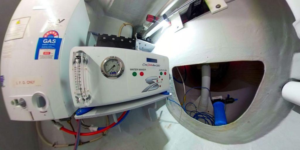 watermaker installation - seawind 1100